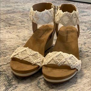 NEW lucky brand sandal wedges!